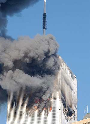 Incendies dans la Tour Nord du World Trade Center