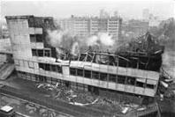 Lycée Pailleron après l'incendie qui l'a détruit