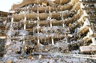 Immeuble endommagé par l'attentat à Oklahoma City