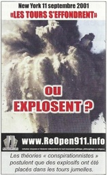 Image extraite de l'iconographie du hors-série du magazine Science et pseudo-sciences consacré aux attentats du 11 septembre 2001 : image d'explosion au World Trade Center (AFIS)