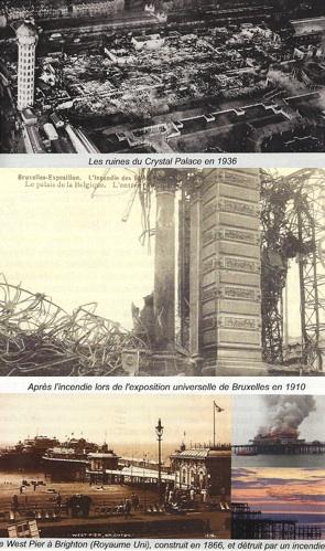 Images extraites de l'iconographie du hors-série du magazine Science et pseudo-sciences consacré aux attentats du 11 septembre 2001 : immeubles détruits par le feu (incendies, AFIS)